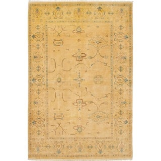eCarpetGallery  Hand-knotted Peshawar Finest Beige Wool Rug - 6'1 x 9'3