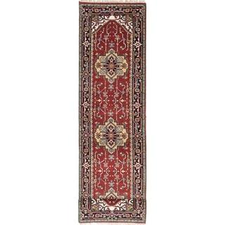 eCarpetGallery  Hand-knotted Serapi Heritage Dark Red Wool Rug - 2'6 x 10'4