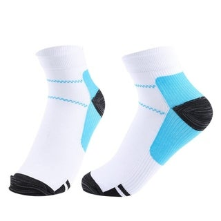 F.S.D Plantar Fasciitis Compression Socks Large - 10 Pairs - WHITE