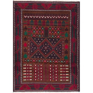 eCarpetGallery  Hand-knotted Royal Baluch Red Wool Rug - 3'1 x 4'6