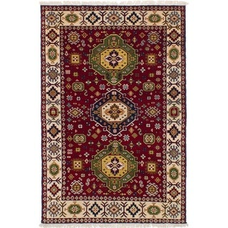eCarpetGallery  Hand-knotted Royal Kazak Dark Red Wool Rug - 5'5 x 7'6