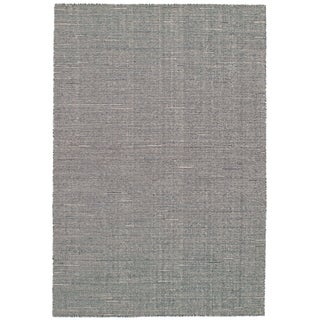 eCarpetGallery Flat-weave Manhattan Dark Grey Wool Kilim - 5'0 x 7'7