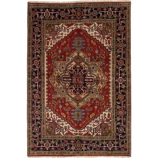 eCarpetGallery  Hand-knotted Serapi Heritage Red Wool Rug - 6'2 x 8'11