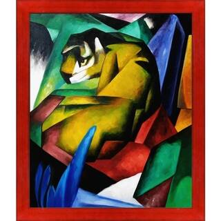 Franz Marc 'The Tiger' Hand Painted Oil Reproduction