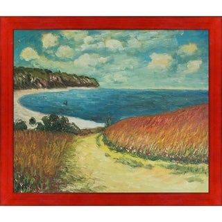 Claude Monet 'Meadow Road to Pourville, 1882' Hand Painted Oil Reproduction