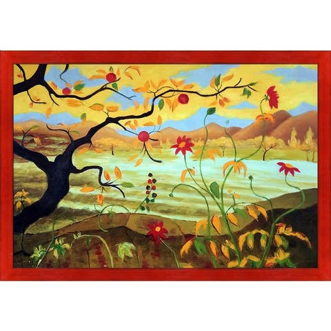 Paul-Elie Ranson 'Apple Tree With Red Fruit' Hand Painted Oil Reproduction