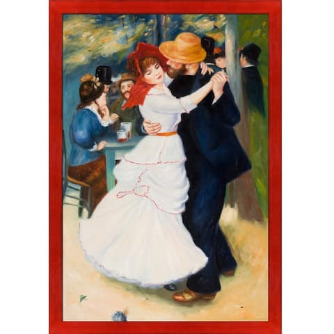 Pierre-Auguste Renoir 'Dance at Bougival' Hand Painted Oil Reproduction