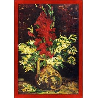 Vincent Van Gogh 'Vase with Gladioli and Carnations' Hand Painted Oil Reproduction