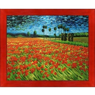 Vincent Van Gogh 'Field of Poppies' Hand Painted Oil Reproduction