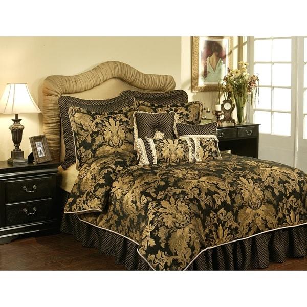 Austin Horn Clics Lismore Black 3 Piece Luxury Comforter Set