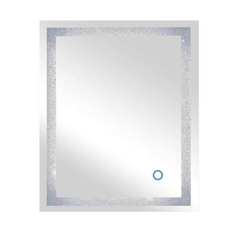 Dyconn Faucet Edison Crystal LED Backlit Bathroom Mirror with Touch On/Off/Dimmer & Anti-Fog Function