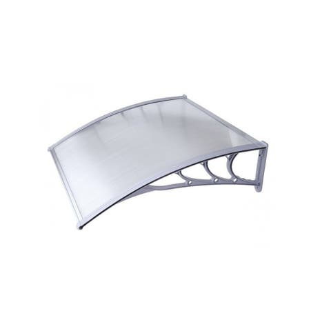 ALEKO Polycarbonate Window Awning Front Door Canopy 40 x 47 Inches