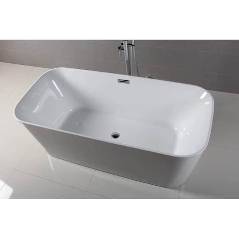 Dyconn Faucet 59 in. Lyon Bathroom Freestanding Acrylic Bathtub
