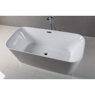 Dyconn Faucet 59 in. Lyon Bathroom Freestanding Acrylic Bathtub