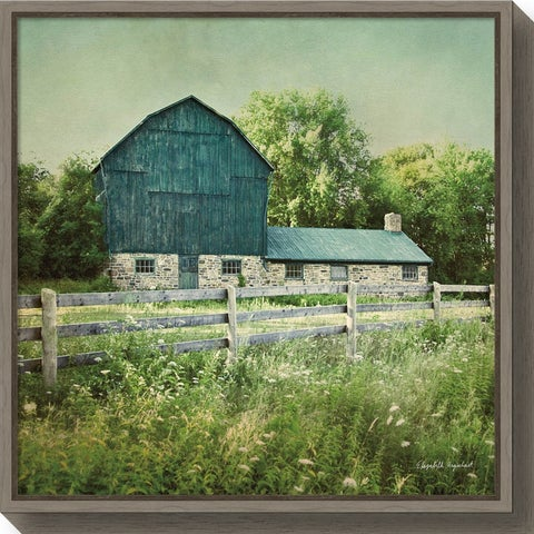 Canvas Art Framed 'Blissful Country III (Barn)' by Elizabeth Urquhart