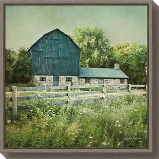 Canvas Art Framed 'Blissful Country III (Barn)' by Elizabeth Urquhart
