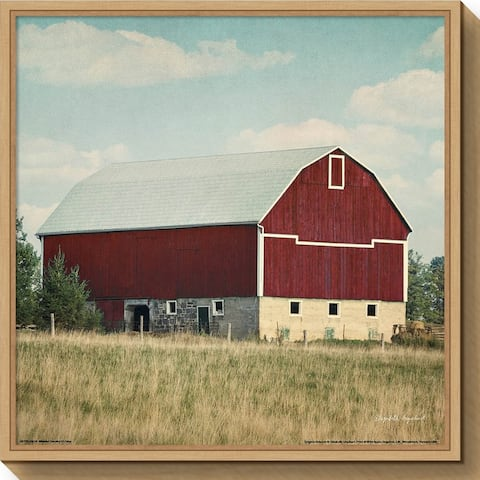 Canvas Art Framed 'Blissful Country VI Crop (Barn)' by Elizabeth Urquhart