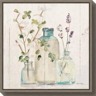 Canvas Art Framed 'Blossoms on Birch V' by Cheri Blum