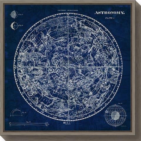 Canvas Art Framed 'Celestial Blueprint' by Susan Schlabach