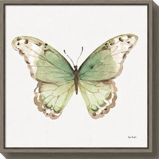 Canvas Art Framed 'Colorful Breeze XII (Butterfly)' by Lisa Audit