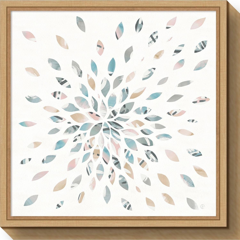 Canvas Art Framed Fireworks Ii Floral By Elyse Deneige Overstock 22717425 16 X 16 Grey