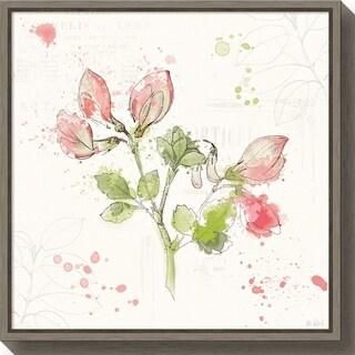 Canvas Art Framed 'Floral Splash II' by Katie Pertiet