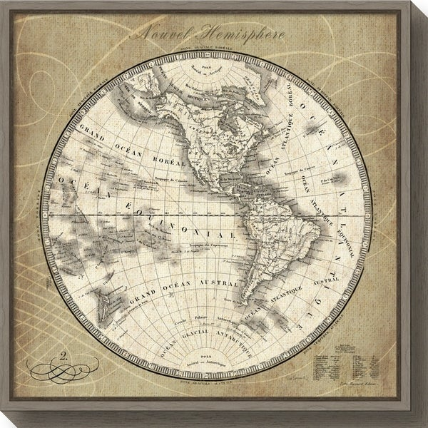 Shop canvas art framed french world map iii by susan schlabach canvas art framed x27french world map iiix27 gumiabroncs Image collections