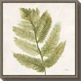 Canvas Art Framed 'Forest Ferns I' by Albena Hristova