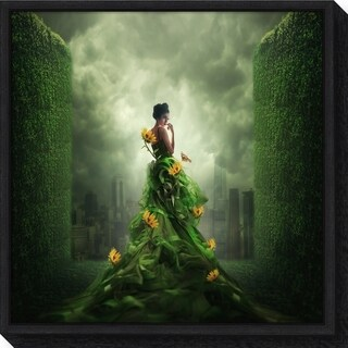 Canvas Art Framed 'Go Green' by Hardibudi
