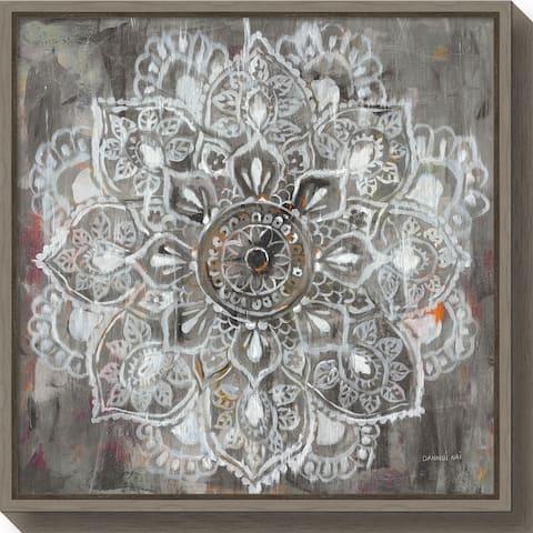 Canvas Art Framed 'Mandala in Neutral II' by Danhui Nai
