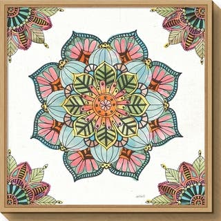 Canvas Art Framed 'Mandala Morning V' by Anne Tavoletti