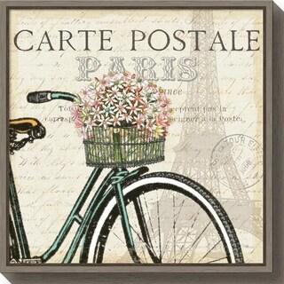 Canvas Art Framed 'Paris Ride I' by Pela Studio
