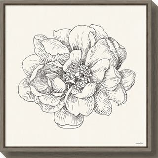 Canvas Art Framed 'Pen and Ink Florals IV' by Danhui Nai