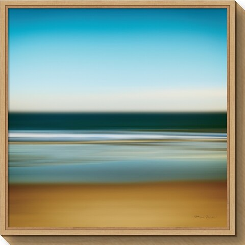 Canvas Art Framed 'Sea Stripes I' by Katherine Gendreau