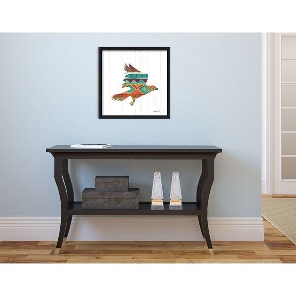 Medium Amanti Art Southwestern Vibes III Eagle by Farida Zaman Canvas Art Framed Greywash