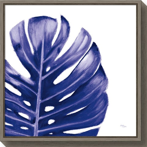 Canvas Art Framed 'Statement Palms IV Indigo' by Wellington Studio