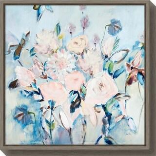 Canvas Art Framed 'Sweetness and Light II v2 (Floral)' by Joan E. Davis
