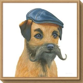 Canvas Art Framed 'The Boys VII Dog' by Myles Sullivan