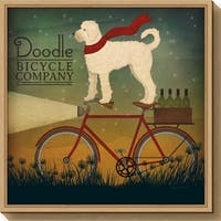 Canvas Art Framed 'White Doodle on Bike Summer' by Ryan Fowler