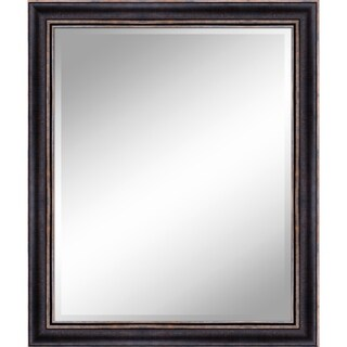 """31 X 37 Bronze Gold Mirror 1"""" Bevel with 3.5"""" frame - Bronze/Gold - N/A"""
