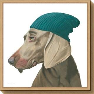 Canvas Art Framed 'The Boys VI Dog' by Myles Sullivan