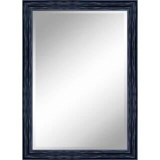 "31 X 43 Antique Black Mirror 1"" Bevel with 3.5"" frame - Antique Black - N/A"