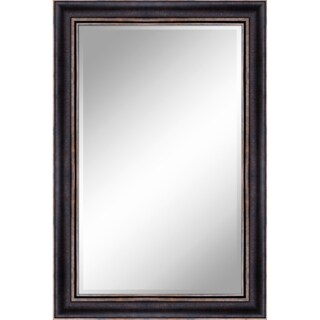 """24 X 36 Bronze Gold Mirror 1"""" Bevel with 3.5"""" frame - Bronze/Gold - N/A"""