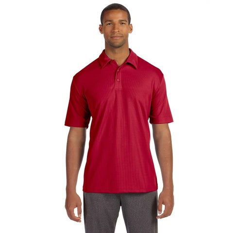 All Sport mens Performance Three-Button Mesh Polo (M1709)