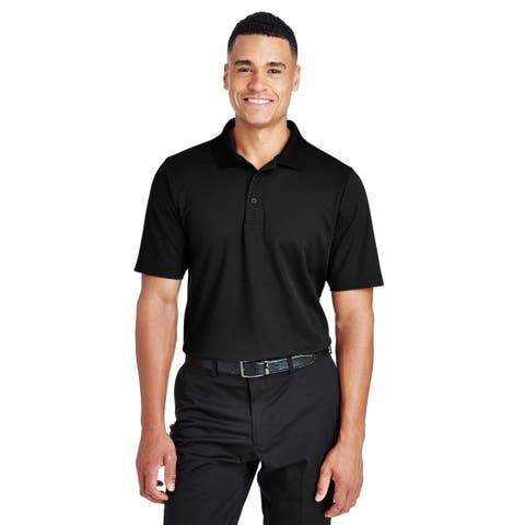 Devon & Jones mens Devon & Jones Men's CrownLux Performance Plaited Polo - BLACK - 2XL (DG20)