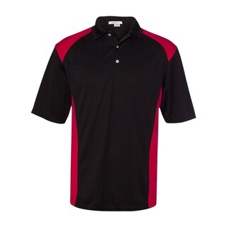 FeatherLite mens Spirit Racing Colorblocked Moisture-Free Mesh Sport Shirt (0466)
