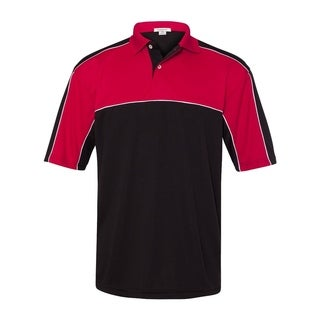 FeatherLite mens Daytona Racing Colorblocked Moisture-Free Mesh Sport Shirt (0467)