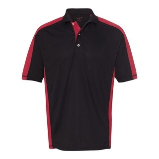 FeatherLite mens Colorblocked Moisture Free Mesh Sport Shirt (0465)
