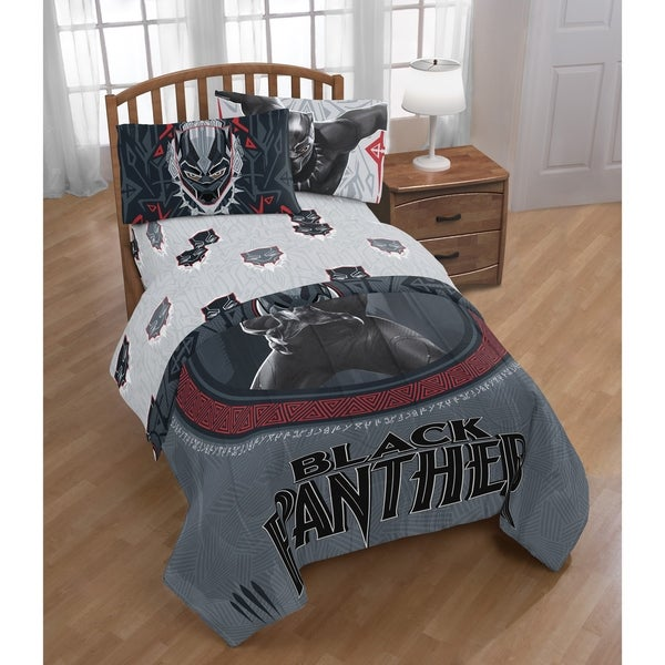Shop Marvel Black Panther Wakanda Twin Bed In A Bag Free