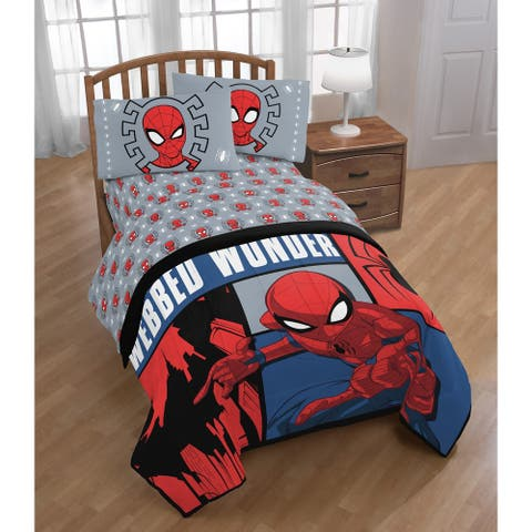 Marvel Spiderman Webbed Wonder Twin Bed in a Bag